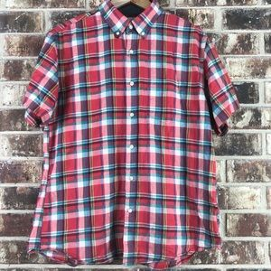 Tailored By J. Crew Short Sleeve Button Down Shirt